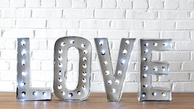 Image of a Marquee Letters - LOVE