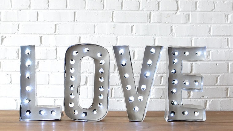Picture of a Marquee Letters - LOVE