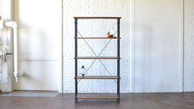 Image of a Wooden Industrial Shelving