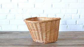 Image of a Wicker Bicycle Basket