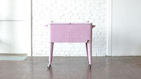 Image of a Vintage Pink Standing Cooler