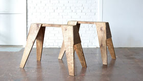 Image of a Stained Sawhorse