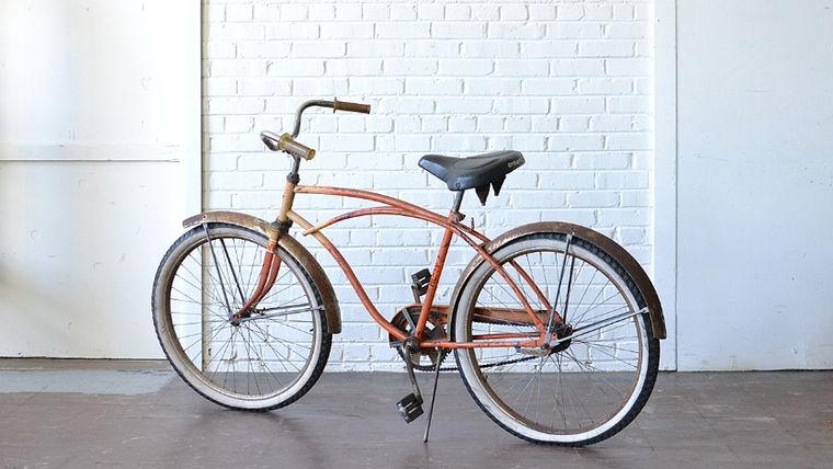 Image of a Orange Vintage Bike