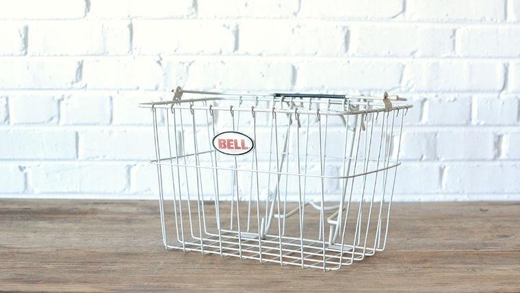 Image of a Metal Bicycle Basket