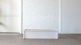 Image of a Long White Beadboard Planter