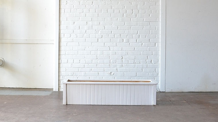 Picture of a Long White Beadboard Planter