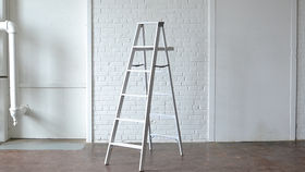 Image of a Large White Ladder
