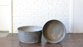Image of a Galvanized Metal Tub