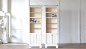 Image of a Cream Bookshelf