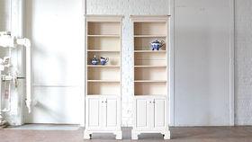Image of a Cream Bookshelf