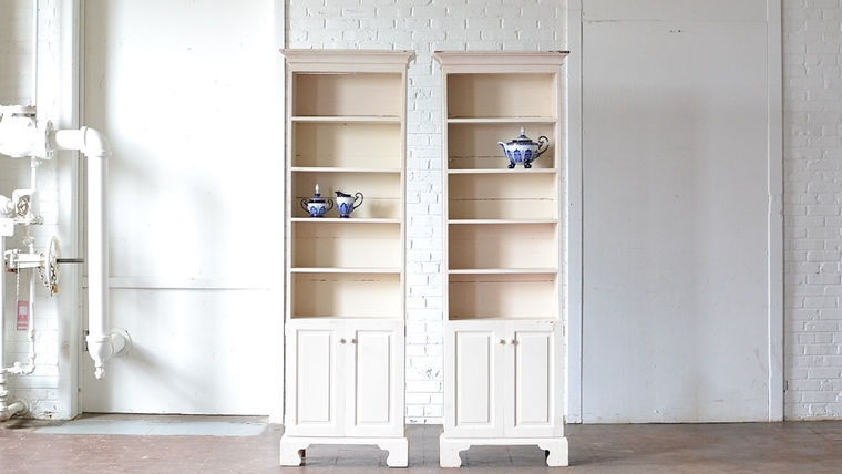 Picture of a Cream Bookshelf