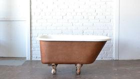 Image of a Copper Clawfoot Bathtub