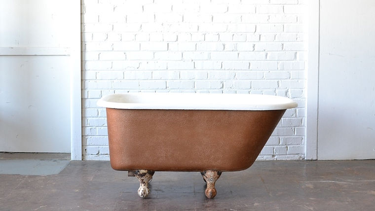 Picture of a Copper Clawfoot Bathtub