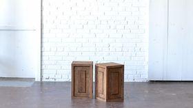 "Image of a 18"" Wooden Pedestal"