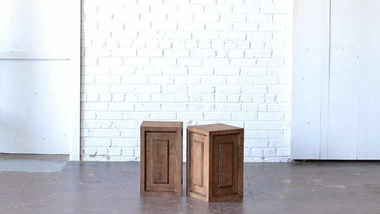 """Picture of a 18"""" Wooden Pedestal"""