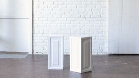 "Image of a 24"" White Wooden Pedestal"