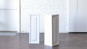 "Image of a 32"" White Wooden Pedestal"