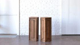 "Image of a 32"" Wooden Pedestal"