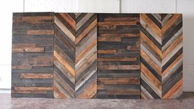 Image of a 16' Wooden Backdrop