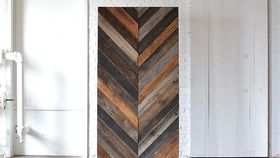Image of a Chevron Wooden Backdrop