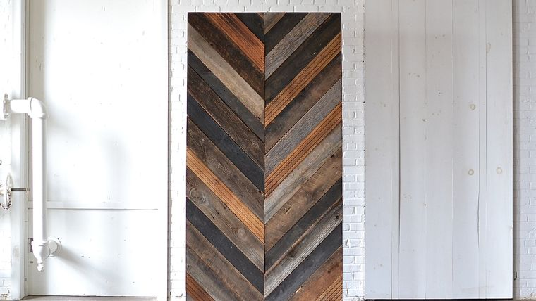 Picture of a Chevron Wooden Backdrop
