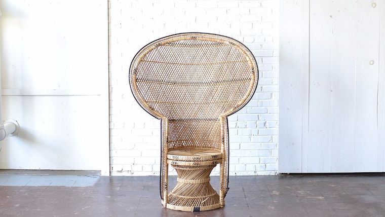 Image of a Oversized Wicker Peacock Chair