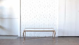 Image of a Brass & Glass Coffee Table