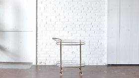 Image of a Brass & Glass Bar Cart