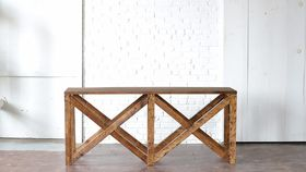 Image of a Wooden Console Table