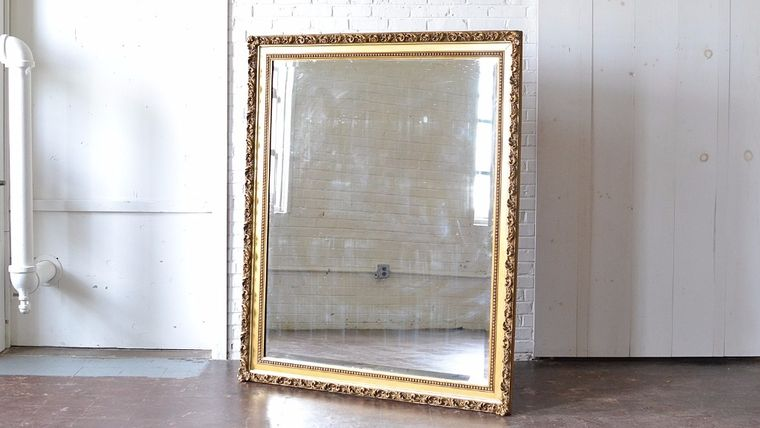 Picture of a Oversized Gilded Mirror