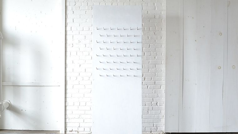 Picture of a White Pegboard