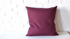 """Image of a 22"""" Burgundy Pillow"""