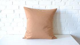 """Image of a 22"""" Tan Pillow"""
