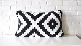 Image of a Black & White Rectangle Pillow