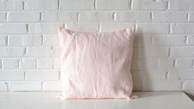 Image of a Blush Square Pillow