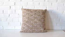 Image of a Burlap Fan Pillow