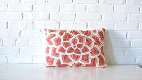 Image of a Coral Lumbar Pillow
