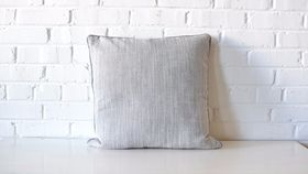 Image of a Gray & White Brushed Pillow