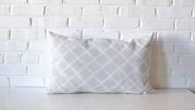 Image of a Gray Diamond Lumbar Pillow