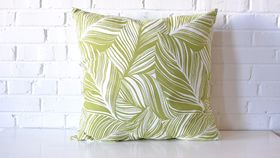 Image of a Large Banana Leaf Pillow
