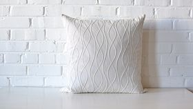 Image of a Neutral Textured Square Pillow