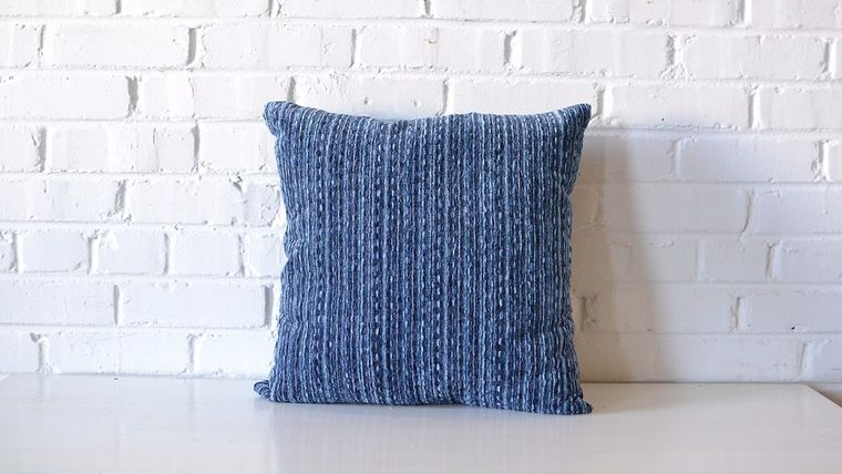 Picture of a Square Indigo Pillow