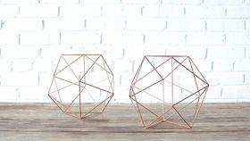 Image of a Geometric Copper Shape - Medium