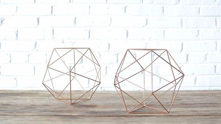 Picture of a Geometric Copper Shape - Medium