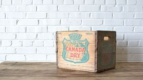 Image of a Wooden Crate #8 (Canada Dry)
