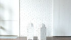 Image of a Oversize White Moroccan Lantern