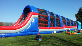 Image of a Warrior Challenge Inflatable Obstacle Course