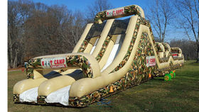 Image of a Boot Camp Inflatable Obstacle Course