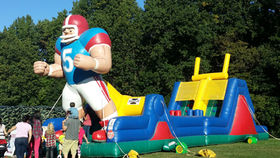 Image of a End Zone Football Challenge Inflatable Obstacle Course
