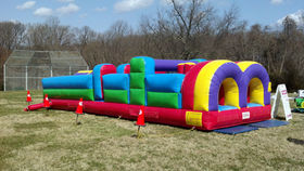 Image of a 30 Foot Inflatable Obstacle Course